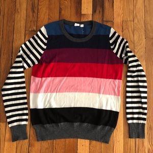 Gap Contrast Stripe Sweater